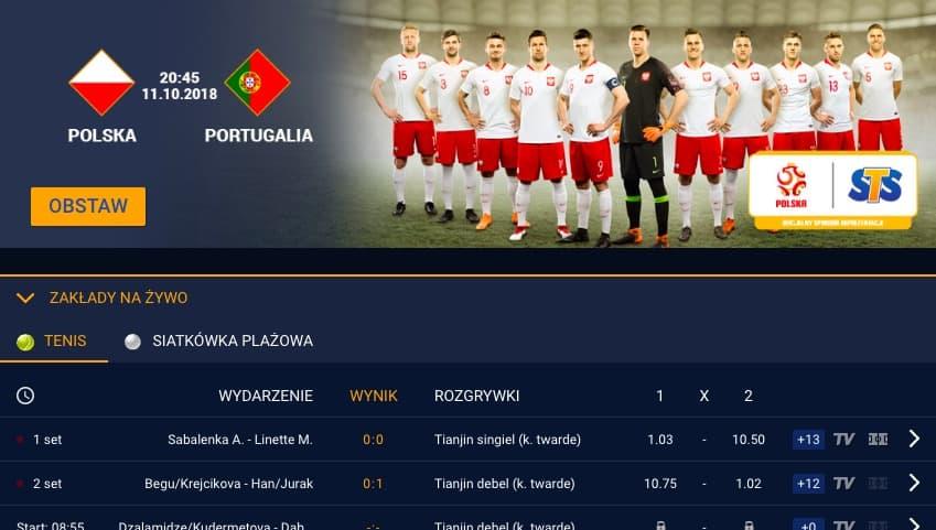 Kursy na Polska - Portugalia w STS!