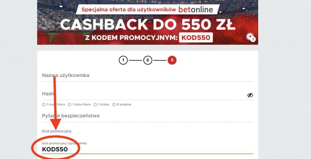 Kod promocyjny KOD550 w Betclic Polska. Najwyższy cashback w Polsce!